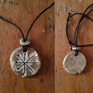 Anu Necklace Sumerian Pendant Ceramic Greystone Petroglyph Amulet Sky Father King of the Gods