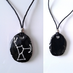 Orion Necklace Belt of Orion Black Ceramic Pendant Star Constellation Silver The Hunter