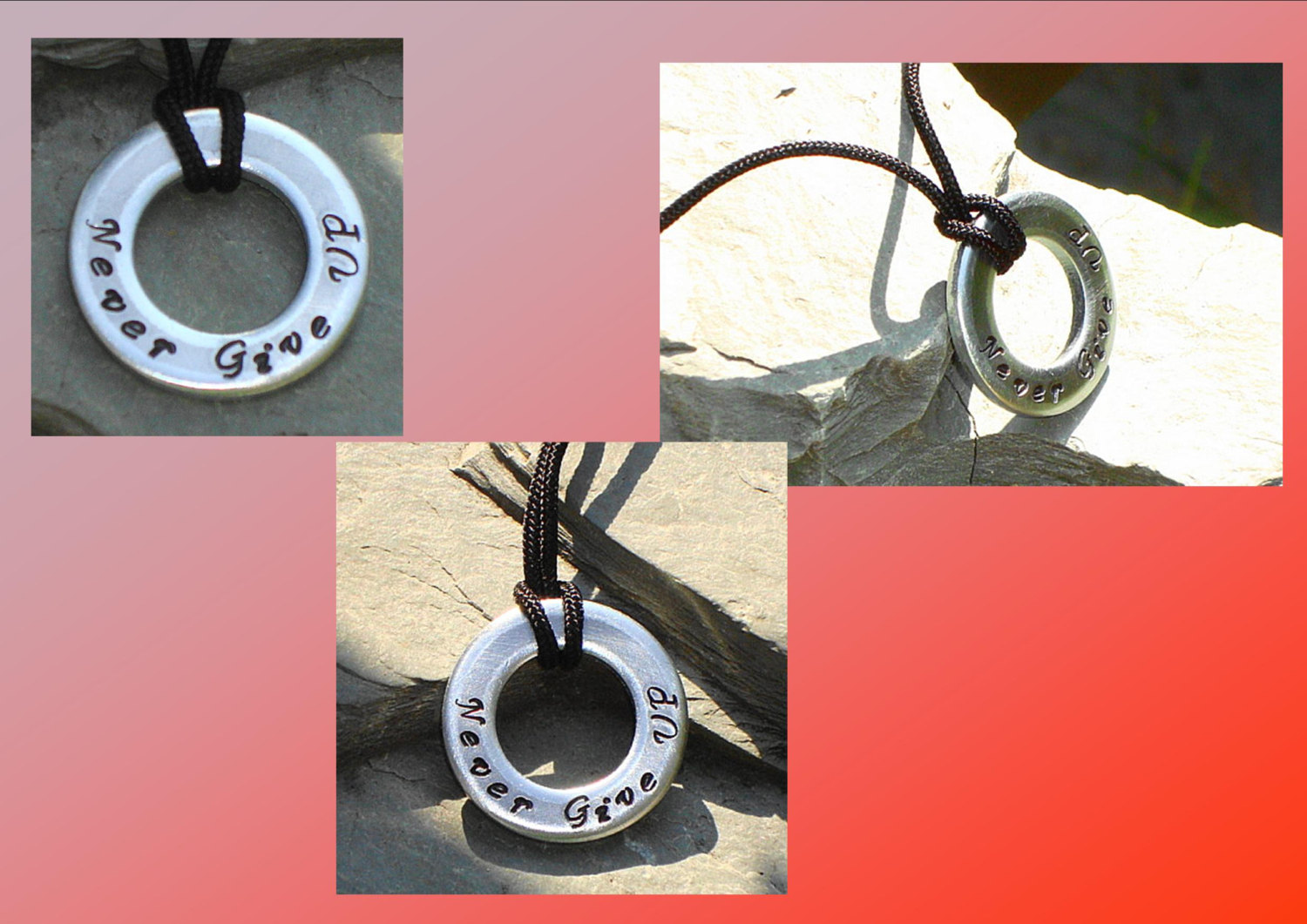 Mens Washer Pendant Steel Washer Necklace  Metal Stamped Washer Pendant Men Masculine Male Jewelry