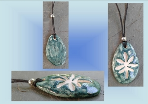 Aquamarine Marijuana Leaf Ceramic Aromatherapy Necklace Essential Oil Diffuser Pendant Cannabis