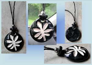 Black Marijuana Leaf Ceramic Aromatherapy Necklace Essential Oil Diffuser Pendant Cannabis