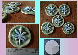 5 Marijuana Leaf Cabochons Fine Porcelain Turquoise Green Leaf Pendants Ceramic Cannabis for Mosaics Scrapbooking