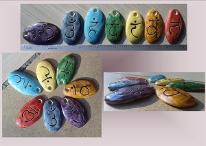 7 Chakra Rainbow Ceramic Pendants Jewelry Supplies Stone Pendants