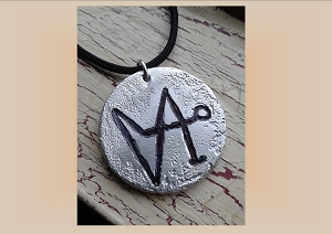 Angel Gabriel Necklace, Archangel Sigil Metal Pendant, Aluminium Etching, Sacred Protection Amulet (COPY)