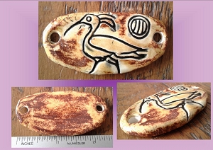 Ibis Pendant Egyptian Amulet Sandstone Ceramic Bird Hieroglyph Ancient Egyptian God Toth