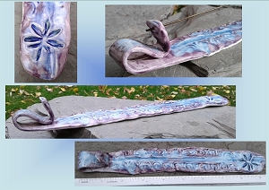 Psychedelic Purple Lilac Marijuana Porcelain Incense Burner Cannabis Ceramic Stick Holder