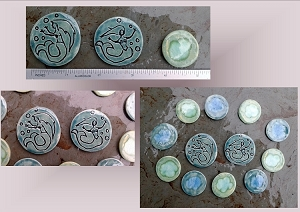 12 Mermaid Turquoise Teal Mosaic Tiles Ceramic Stone Pottery Supplies Handmade