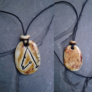 Archangel Metatron Necklace Angel Sigil Ceramic Pendant Copper Sand Sacred Protection Amulet