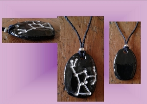 Orion Star Constellation Necklace Belt of Orion Ceramic Pendant Silver The Hunter Constellation Clay Pottery