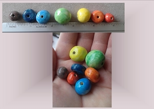 Set 7 Rainbow Ceramic Beads LGBT Pottery Beading Supplies Chakra Macrame Beads Handmade