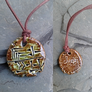 SARRUM Cuneiform Necklace KING Sumerian Pendant Ceramic Amulet Sigil