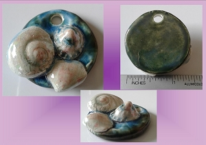 Sea Shell Pendant Ceramic Shells Turquoise Clay Ocean Beach Jewelry Boho Surfer Surf DIY Necklace