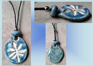 Teal Turquoise Blue Marijuana Leaf Ceramic Aromatherapy Necklace Essential Oil Diffuser Pendant Cannabis