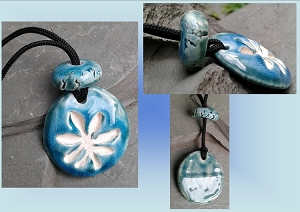 Boho Teal Turquoise Blue Marijuana Leaf Ceramic Aromatherapy Necklace Essential Oil Diffuser Pendant Cannabis