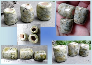 3 Troll Cross Rune Stones Ceramic Macrame Beads Large Hole Bind Runes Norse Viking Beads Dreads Dreadlocks Fibre Projects