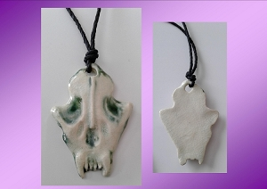 Wolf Skull Necklace Ceramic Viking Pendant Canine Amulet