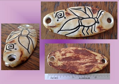 Honeybee Bee Pendant Egyptian Amulet Sandstone Ceramic Bee Hieroglyph Ancient Egyptian Wasp Symbol