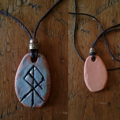 RAGNAROK Necklace Turquoise Terra Cotta Norse Pendant Viking Amulet Twilight of the Gods