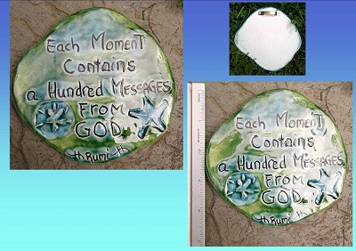 Rumi Inspirational Quote Wall Decor Turquoise Green Ceramic Decorative Tile Wall Art A Hundred Messages