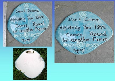 Rumi Inspirational Quote Wall Decor Turquoise Ceramic Decorative Tile Wall Art Don't Grieve